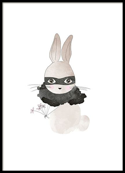 Kid print with a rabbit, posters for the children's room online