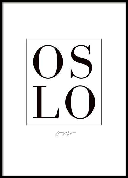 Oslo, Poster in the group Prints / Text posters at Desenio AB (7837)