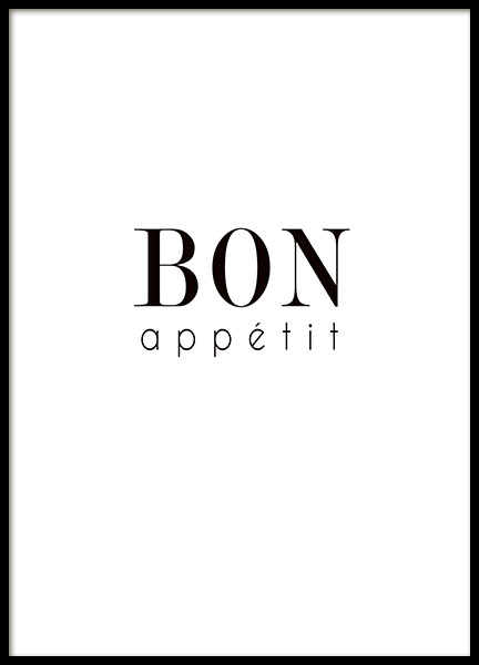 Kitchen art bon appetit for the dining area or kitchen.