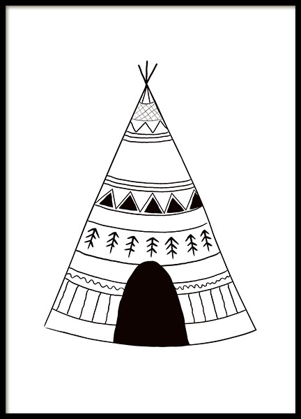 Poster with tepees, nice for a kids room