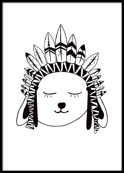 Rabbit Chief, Poster in the group Prints / Kids at Desenio AB (7871)