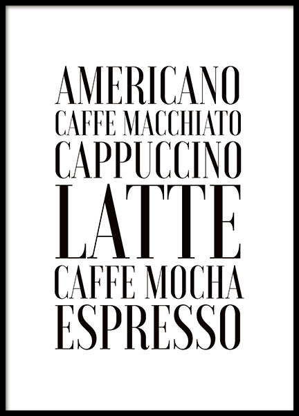 Coffee, Poster in the group Prints / Kitchen at Desenio AB (7897)