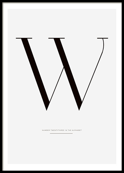 Letter W, poster in the group Prints / Sizes /  at Desenio AB (7916)