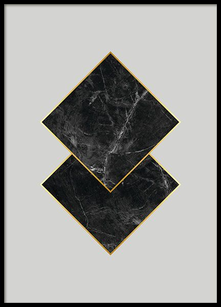 Black Marble, Poster in the group Prints / Graphical at Desenio AB (7925)