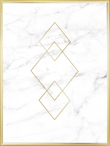 Decorate with white marble and gold, prints online