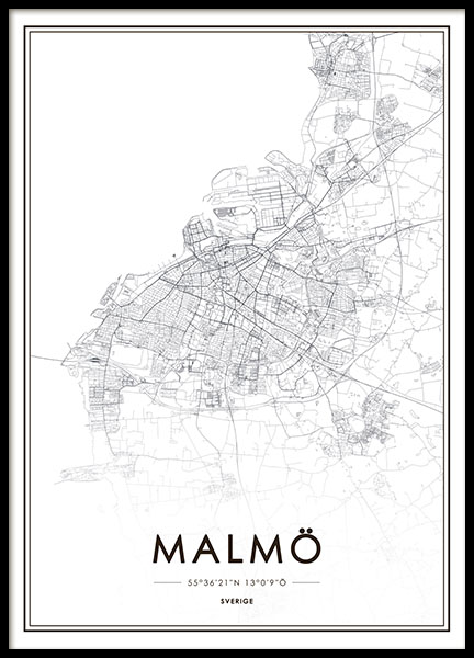 Malmö, poster in the group Prints / Sizes / 50x70cm | 20x28 at Desenio AB (8127)