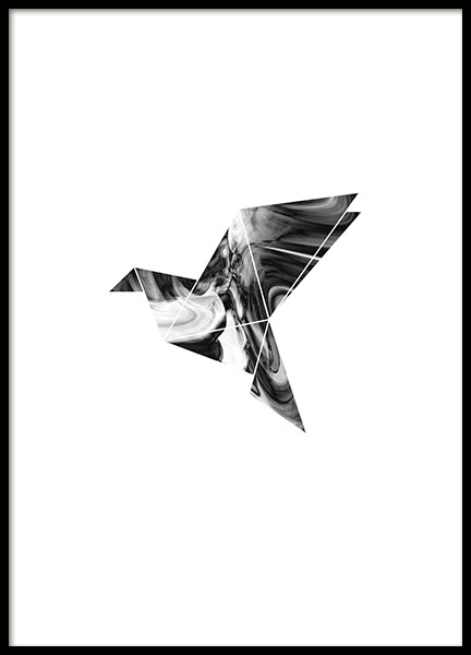 Graphic posters and prints print with geometric dove - Skandinavische wandbilder ...