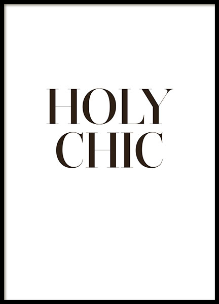 Holy chich typography prints for modern interior design