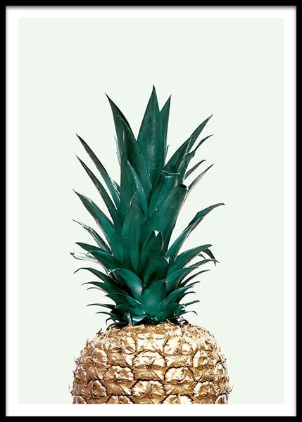 Green pineapple, poster in the group Prints / Sizes / 40x50cm | 16x20 at Desenio AB (8210)