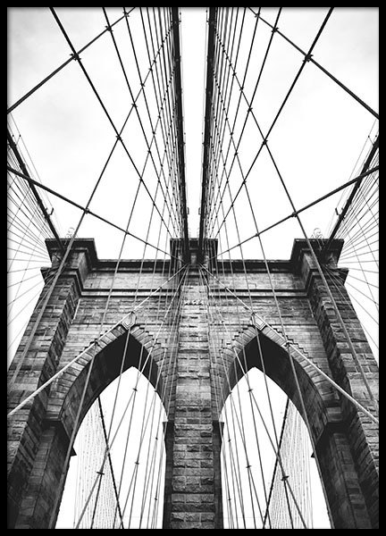 prints with photo art brooklyn bridge prints with architecture. Black Bedroom Furniture Sets. Home Design Ideas