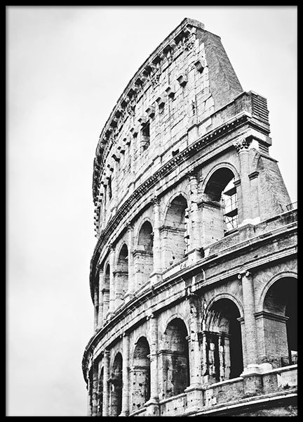 Prints with photographs of the Colosseum and famous buildings