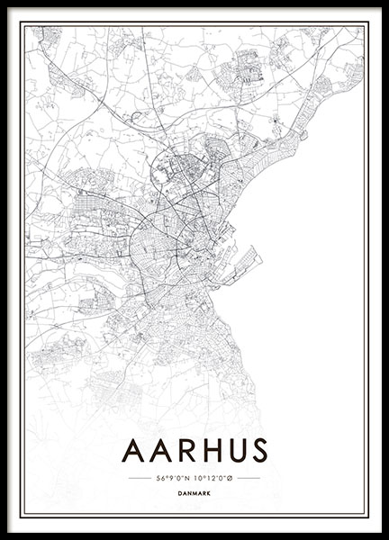 Aarhus, Poster in the group Prints / Text posters at Desenio AB (8270)