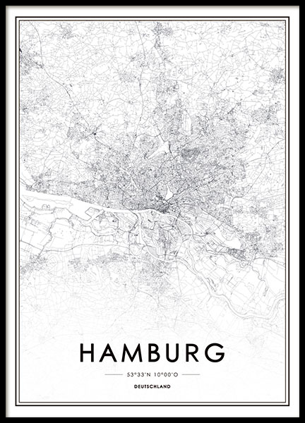Hamburg, Poster in the group Prints / Maps & cities at Desenio AB (8277)