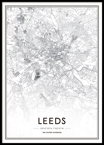 Print with map of Leeds