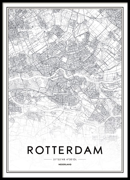 Rotterdam, Poster in the group Prints / Maps & cities at Desenio AB (8279)