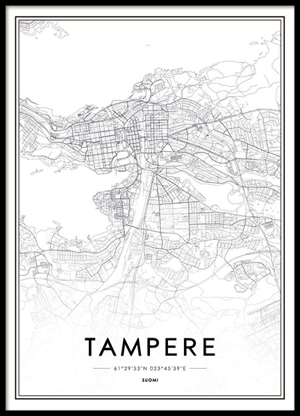 Tampere, Poster in the group Prints / Maps & cities at Desenio AB (8280)