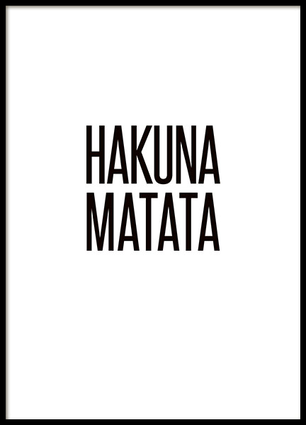 Hakuna Matata (13x18cm) in the group Prints / Typography & quotes at Desenio AB (8294-3)