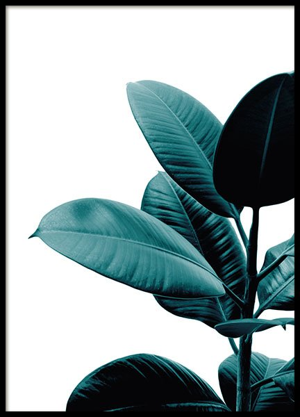 Poster with a photo of a plant and flower for a trendy interior design online