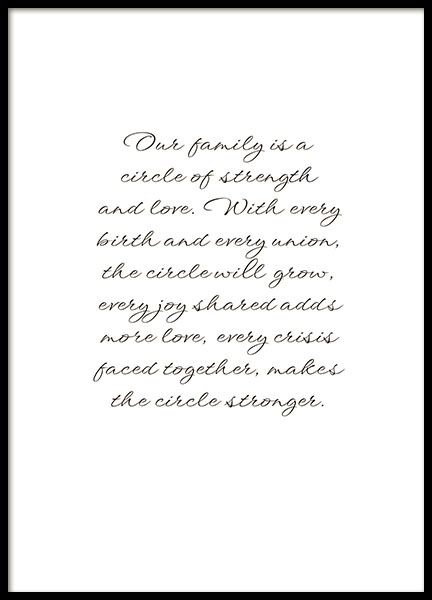 Prints online with a nice text in cursive for clean interior design