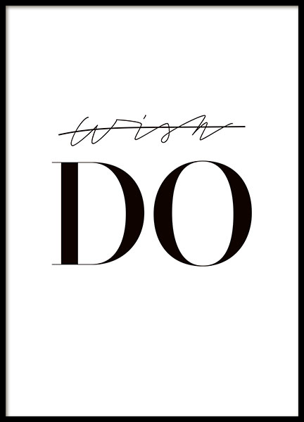 Do, Poster in the group Prints / Sizes / 50x70cm | 20x28 at Desenio AB (8349)