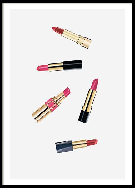 Lipsticks, Poster in the group Prints / Fashion at Desenio AB (8364)
