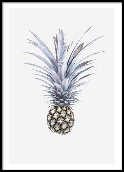 Blue Pineapple, Poster in the group Prints / Kitchen at Desenio AB (8368)