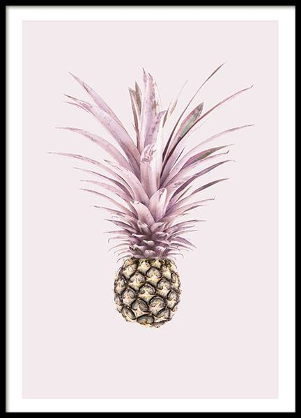 Pink Pineapple, Poster in the group Prints / Kitchen at Desenio AB (8369)
