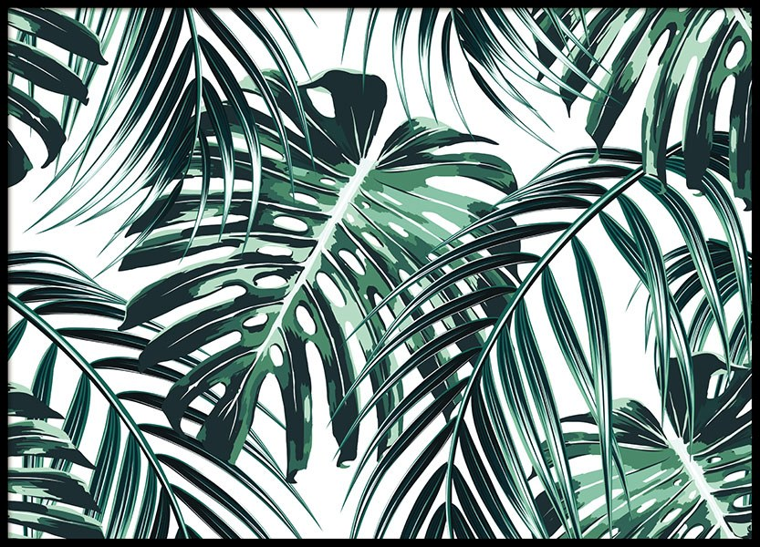 Tropical Leaves, Poster in the group Prints / Floral at Desenio AB (8385)