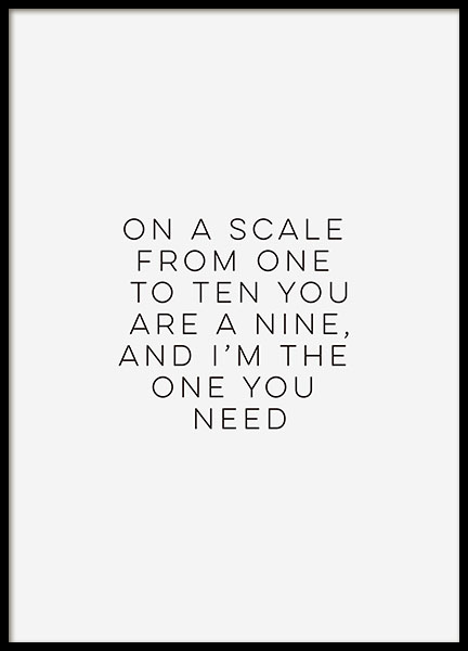 I´M The One You Need, Poster in the group Prints / Typography & quotes at Desenio AB (8401)