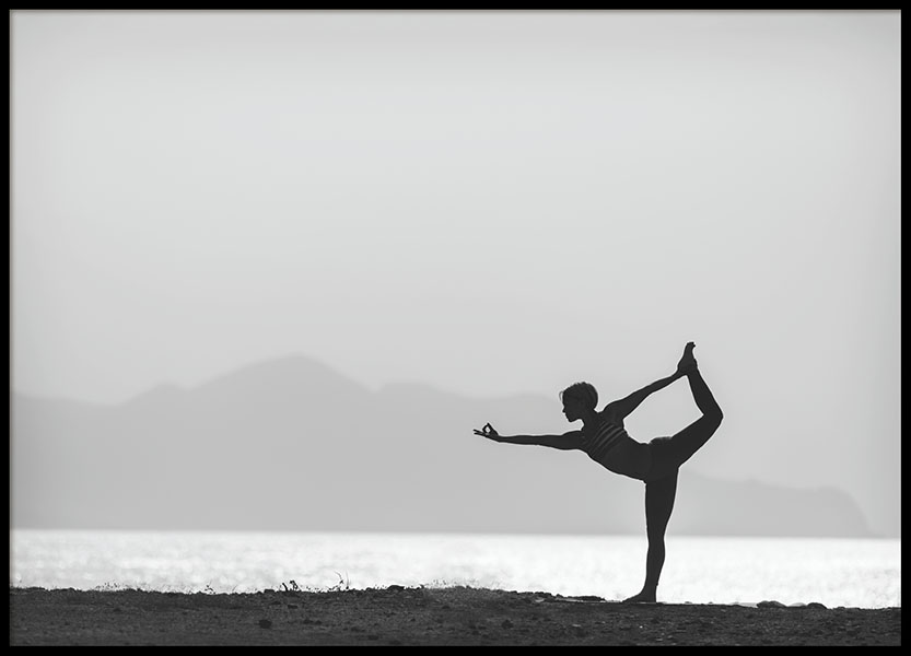 Yoga By The Water, Poster in the group Prints / Black & white at Desenio AB (8408)
