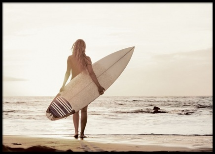 Surfer Girl, Poster in the group Prints / Photographs at Desenio AB (8410)