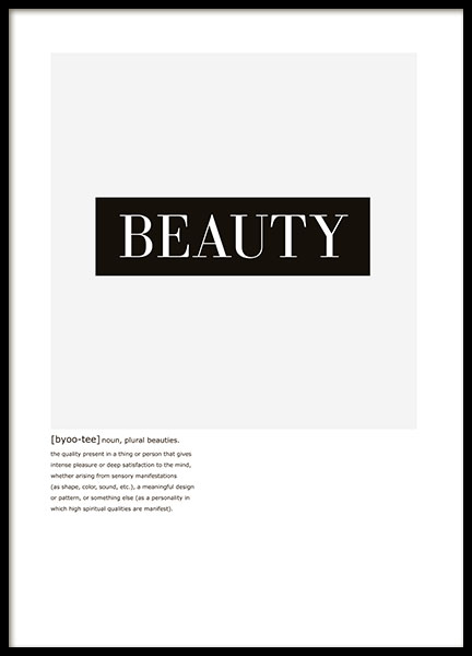 Beauty Text, Poster in the group Prints / Text posters at Desenio AB (8413)
