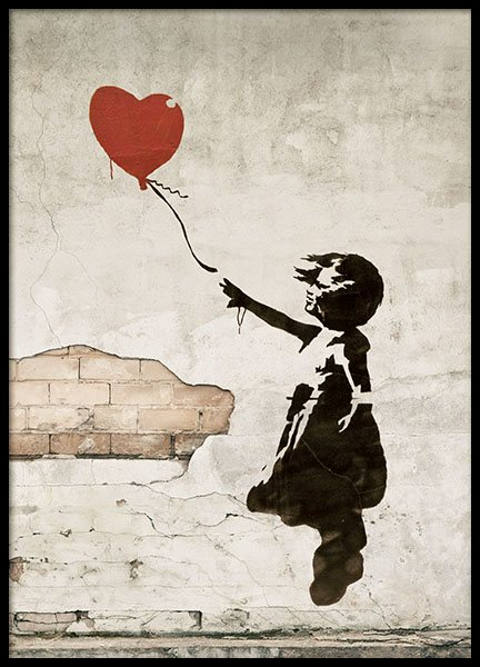 Girl With Love Balloon, Poster in the group Prints / Sizes / 50x70cm | 20x28 at Desenio AB (8448)