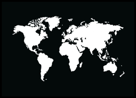 World Map Black, Poster in the group Prints / Art prints at Desenio AB (8449)
