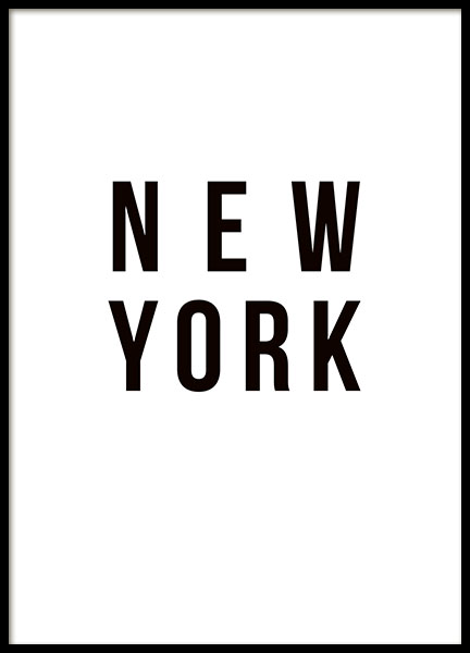 New York, Poster in the group Prints / Sizes / 50x70cm | 20x28 at Desenio AB (8455)