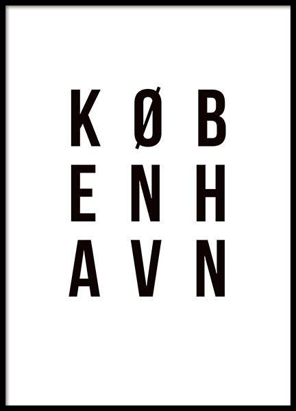 København, Poster in the group Prints / Sizes / 30x40cm | 12x16 at Desenio AB (8456)