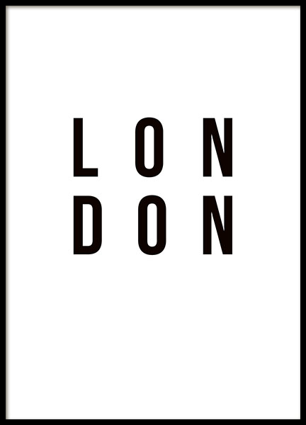 London Poster in the group Prints / Sizes /  at Desenio AB (8459)