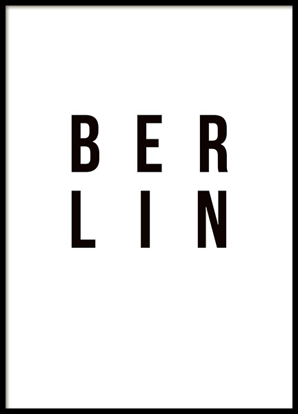 Berlin, Poster in the group Prints / Maps & cities at Desenio AB (8461)