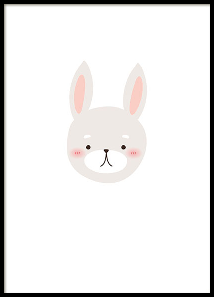 Little Bunny, Poster in the group Prints / Kids posters at Desenio AB (8469)