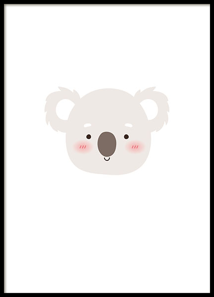 Little Koala, Poster in the group Prints / Kids wall art at Desenio AB (8475)