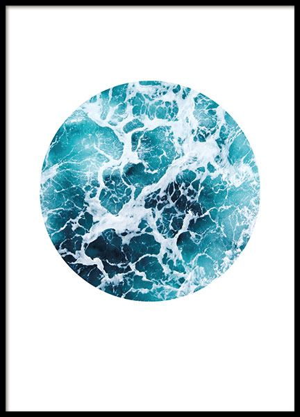 Sea Foam Circle, Poster in the group Prints / Nature at Desenio AB (8499)