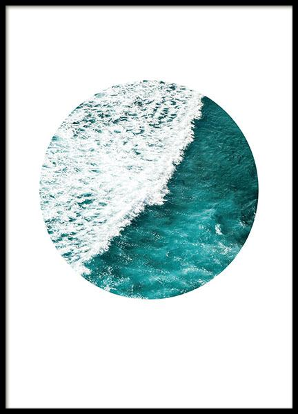 Seascape Circle, Poster in the group Prints / Sizes / 50x70cm | 20x28 at Desenio AB (8500)