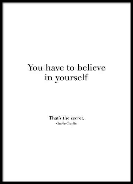 Believe In Yourself, Poster in the group Prints / Typography & quotes at Desenio AB (8504)