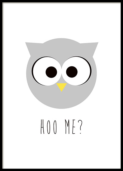 Hoo Me, Poster in the group Prints / Kids posters at Desenio AB (8509)
