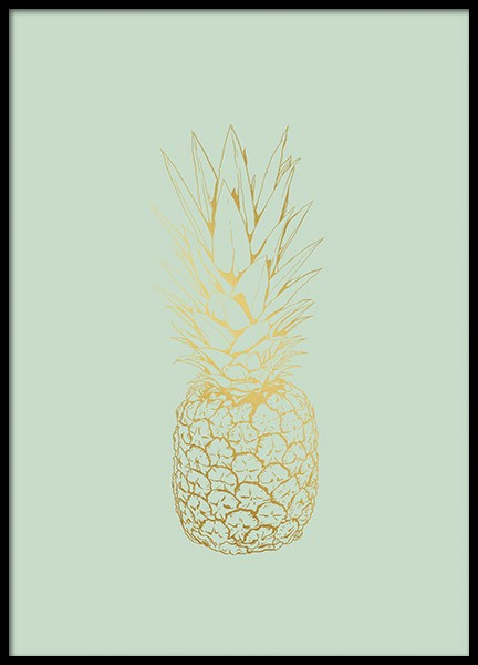 Pastel Pineapple, Poster in the group Prints / Kitchen at Desenio AB (8531)