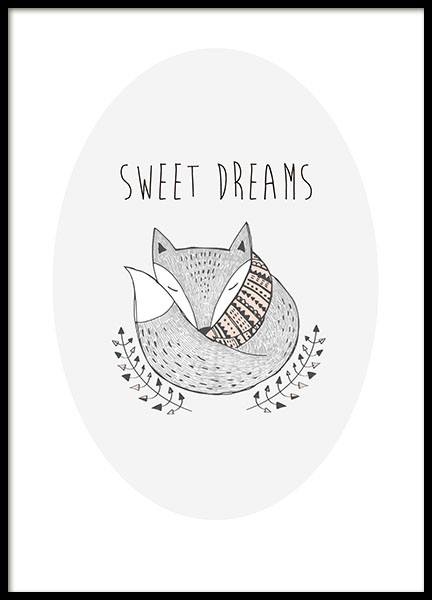 Sweet Dreams, Posters in the group Prints / Kids posters at Desenio AB (8554)
