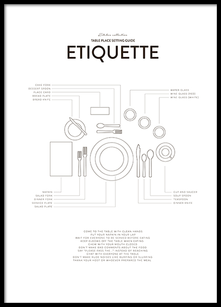 Etiquette, Posters in the group Prints / Kitchen at Desenio AB (8555)