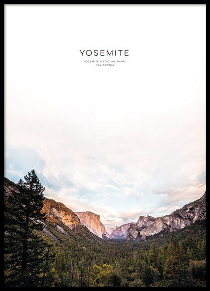 Yosemite, Posters in the group Prints / Text posters at Desenio AB (8566)