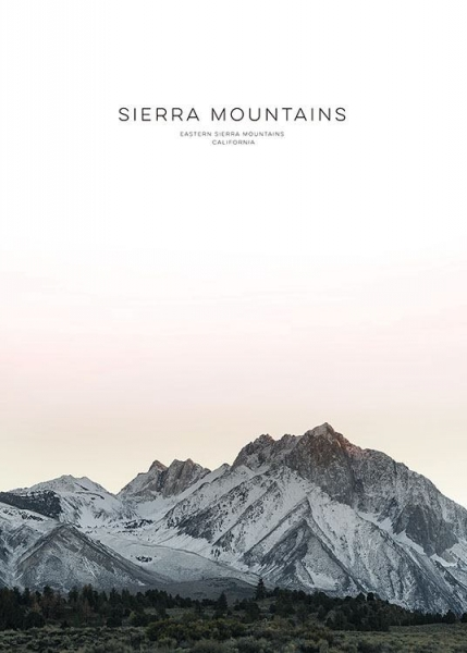 Sierra Mountain, Posters in the group Prints / Nature at Desenio AB (8567)