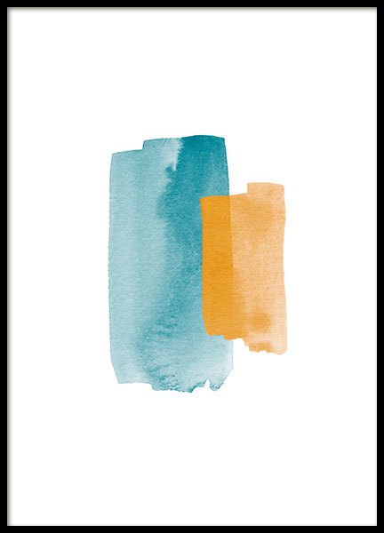 Orange Blue, Poster in the group Prints / Art prints at Desenio AB (8609)